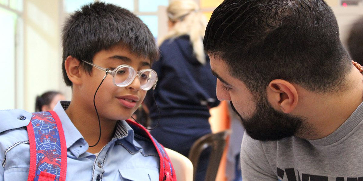 JRS staff in Damascus accompanied Ammar to get a surgery that allowed him to open his eyes again.