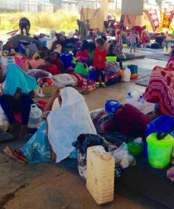 The Adi Harush camp is not equipped to handle the new number of refugees, and there is enormous pressure on the provision of shelter, water, latrines, food rations, and non-food items.