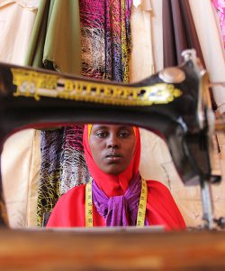 A refugee woman attends a livelihoods training run by JRS in Ethiopia.