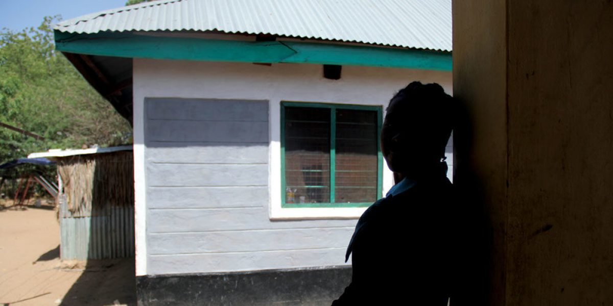 Woman at the JRS protection centre, Safe Haven