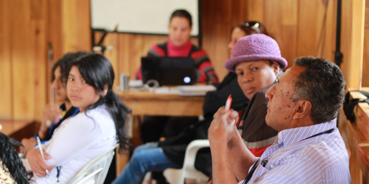 JRS Ecuador organises citizenship classes to make refugees aware of their rights.