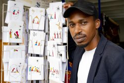 Wycliff Mikono refugee craft shop beneficiary