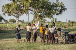 Children at a school in Adjumani